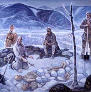 burying in ice
