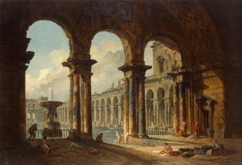robert_hubert_-_ancient_ruins_used_as_public_baths_-_1798